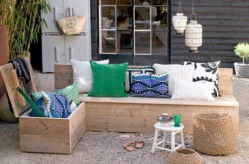 Zonas De Estar De Verano Con Muebles Recuperados Diy Muebles Muebles Recuperados Muebles Terraza