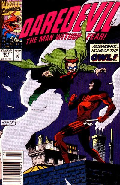 Cover for Daredevil (Marvel, February 1992) #301 [Newsstand Edition]