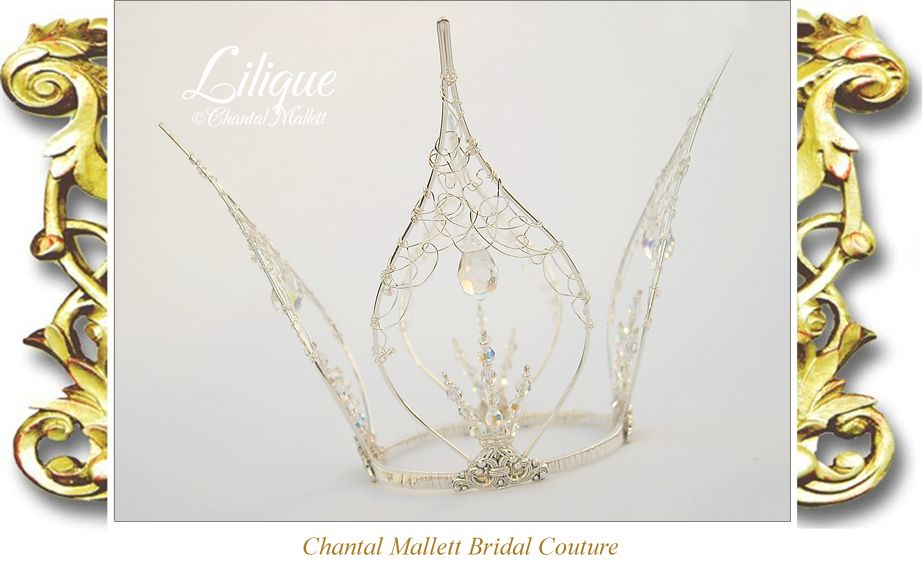 Lilique, silver & crystal fairy crown, hand made by Chantal Mallett