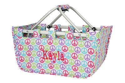 Monogrammed Large Market Totes  Reuseable Easter by Monograms4Ever, $20.00
