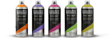- Liquitex spray paint, 100 colors, water based can be used on all surfaces including glass, can be used for outdoors also, can't wait to try it on a piece of furniture so many beautiful colors, I've seen at my local Michael's