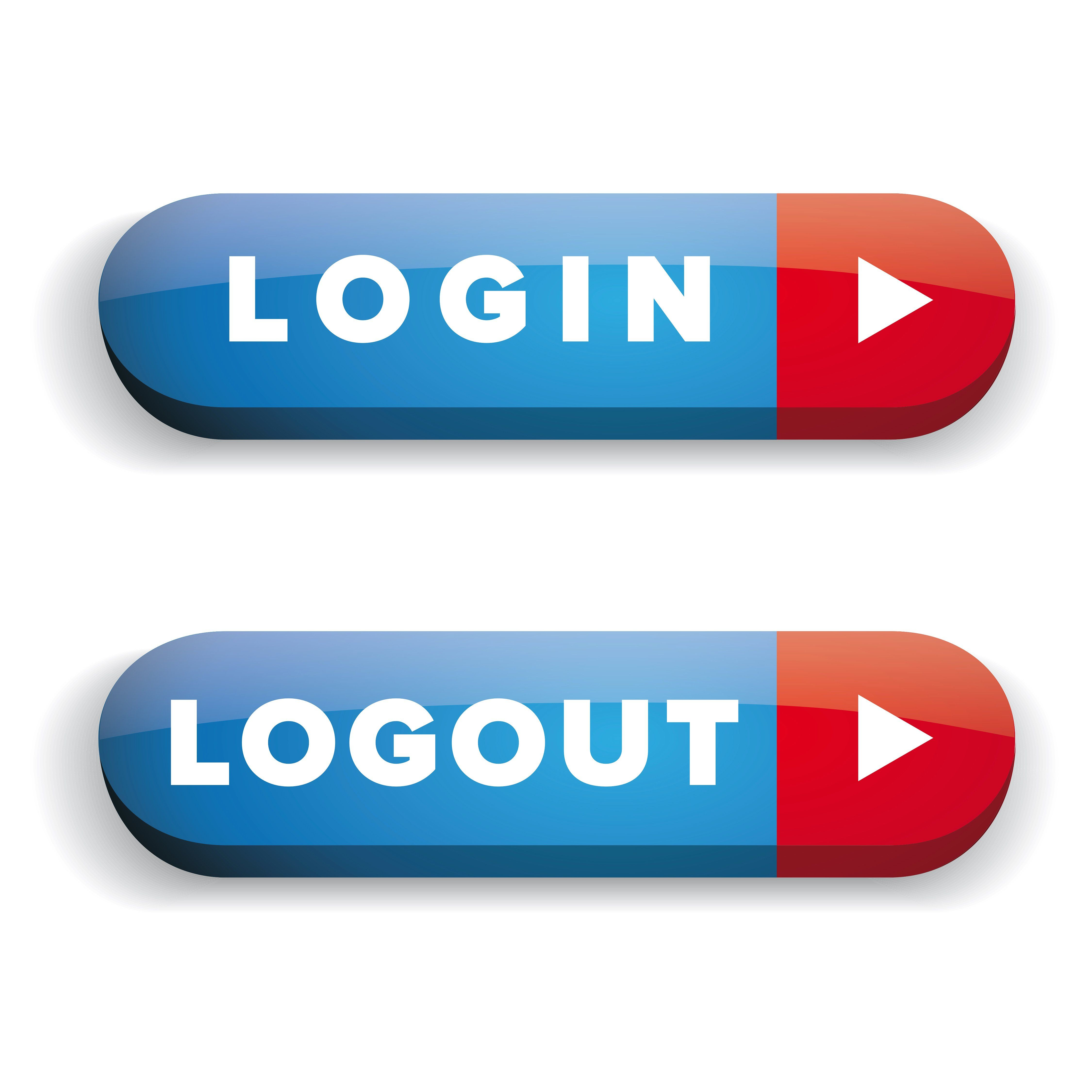 Login Logout vector button by Lin´s on creativemarket