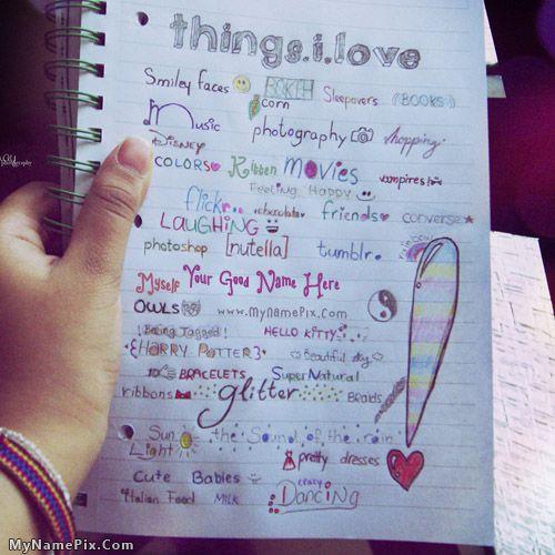 love of writing word