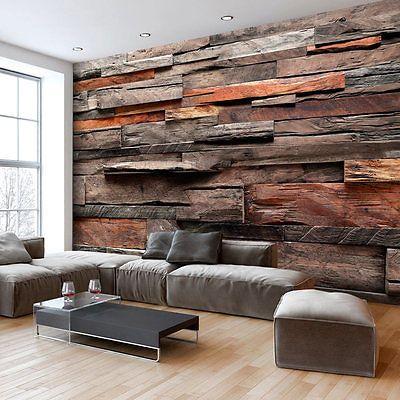 Fototapete stein optik steinwand vlies tapete wandbilder 3 farben f a 0597 a b renovieren - Holzwand fliesen ...