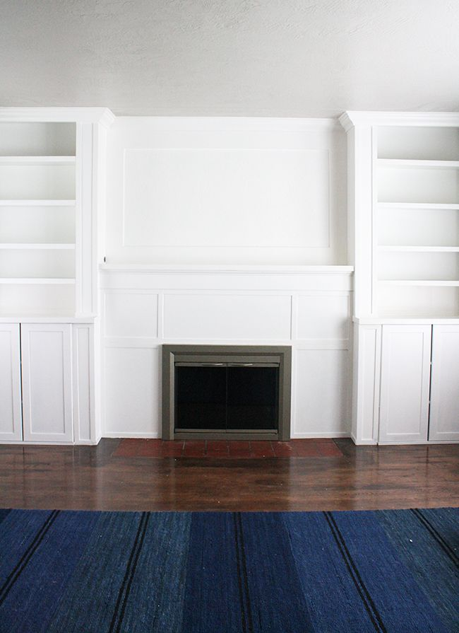 Ikea Hack Built Ins Fireplace Bookcase Billy Bookcase