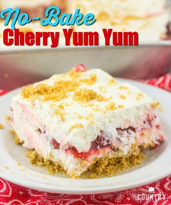 NO-BAKE CHERRY YUM YUM (+Video) | The Country Cook