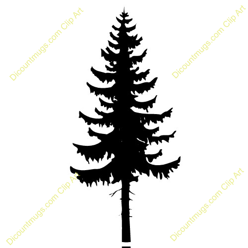 Spruce Conifer Tree Fir Tree Stencil Stencils Printables Free Clipart Images