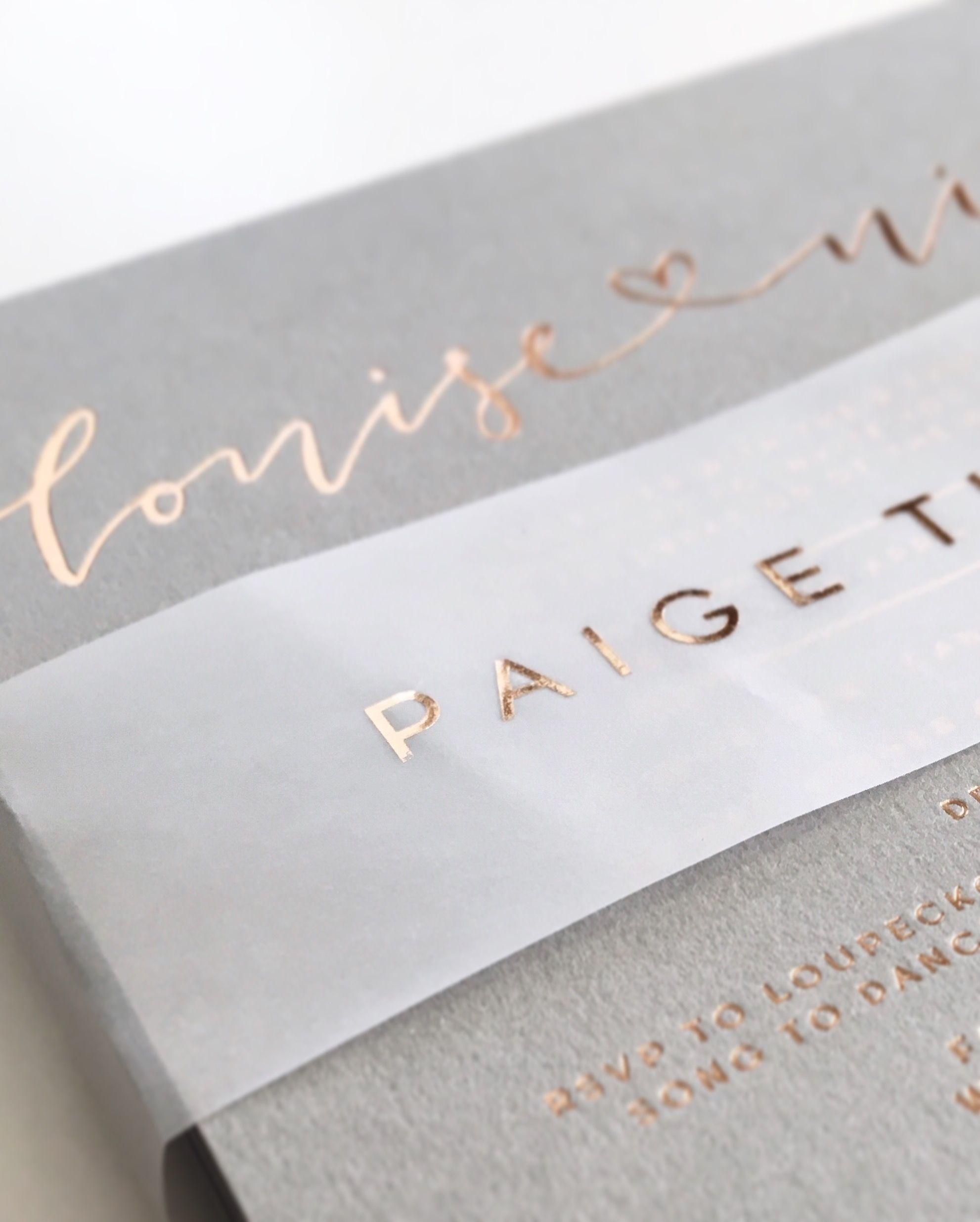 Grey Vellum And Rose Gold Details Via Paigetuzee Designs Fonts