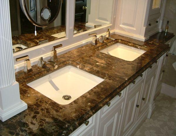 Newstar Supply Nmj031 Dark Emperador Marble Vanity Tops Granite