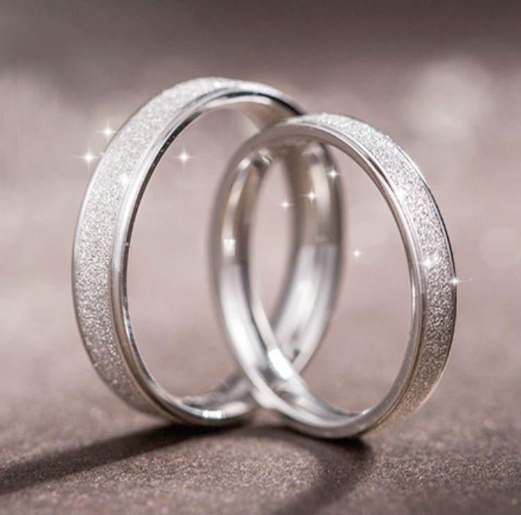 Matching Wedding Ring Sets Uk Without Couple Rings Set White Gold This Jewellery Tools Onlin Aliancas De Namoro Prata Anel De Platina Alianca De Namoro Simples