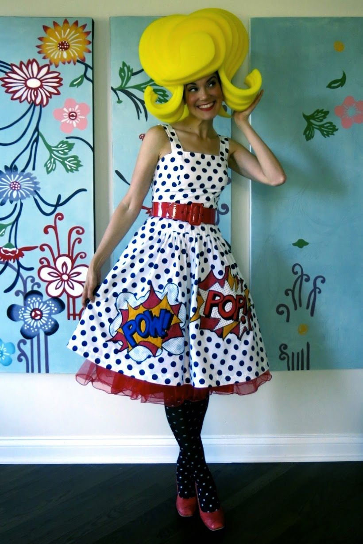 Cassie Stephens  DIY  A Lichtenstein Dress That ll Knock You Out Disfraces  Carnaval 606733940d9