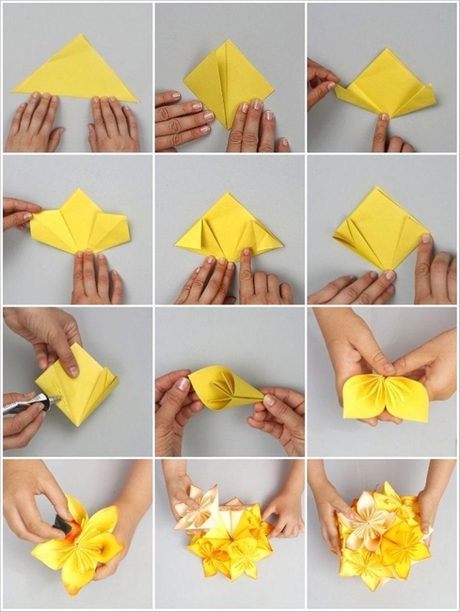 Origami folding flowers stars and animals as nursery room decoration - Wonderful Diy Origami Kusudama Flower Ball