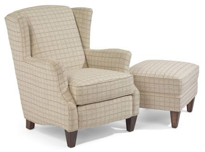 accent chair with ottoman. Flexsteel Furniture: Accent Chairs: SingerChair \u0026 Ottoman (023C-10-08) Chair With C