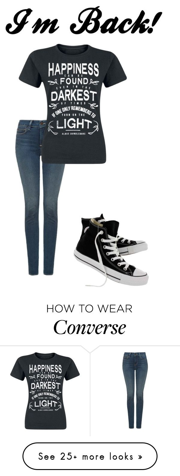 """""""Sorry I haven't been posting.. BUT IM BACK!"""" by ihorselover on Polyvore featuring NYDJ and Converse"""
