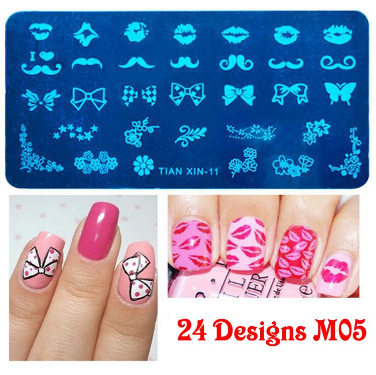 24 Designs Nail Polish Korean Diy Design Custom Nail Art Stamping