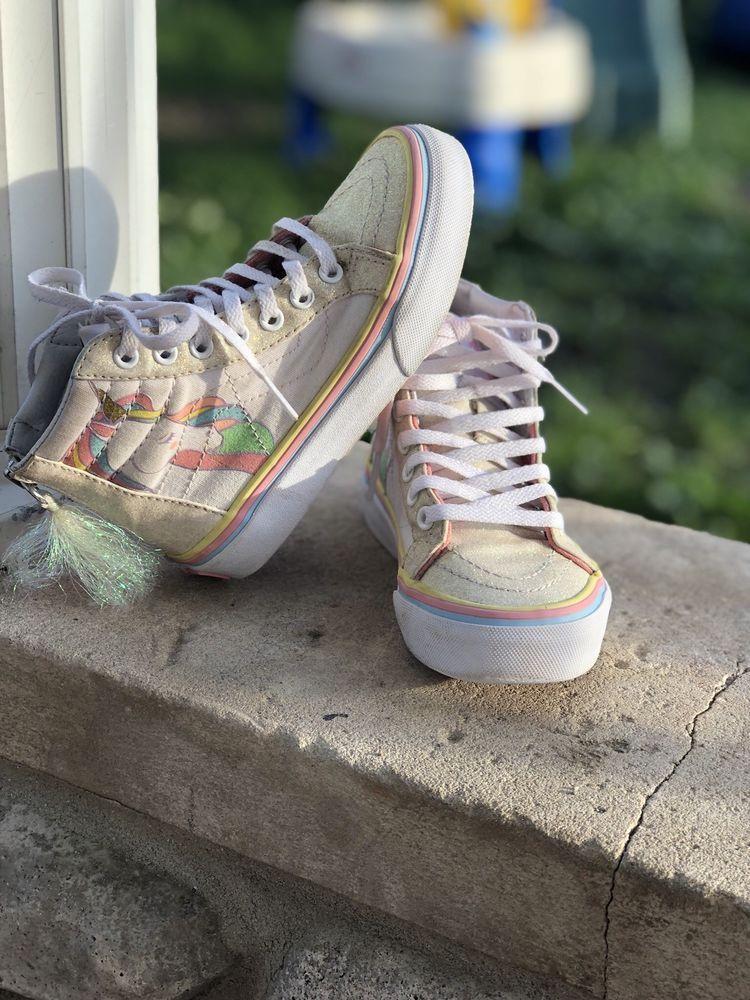 b7cc86adb937 Vans Off the Wall Kids Asher Unicorn Slip-On Sneakers size 11.5  fashion