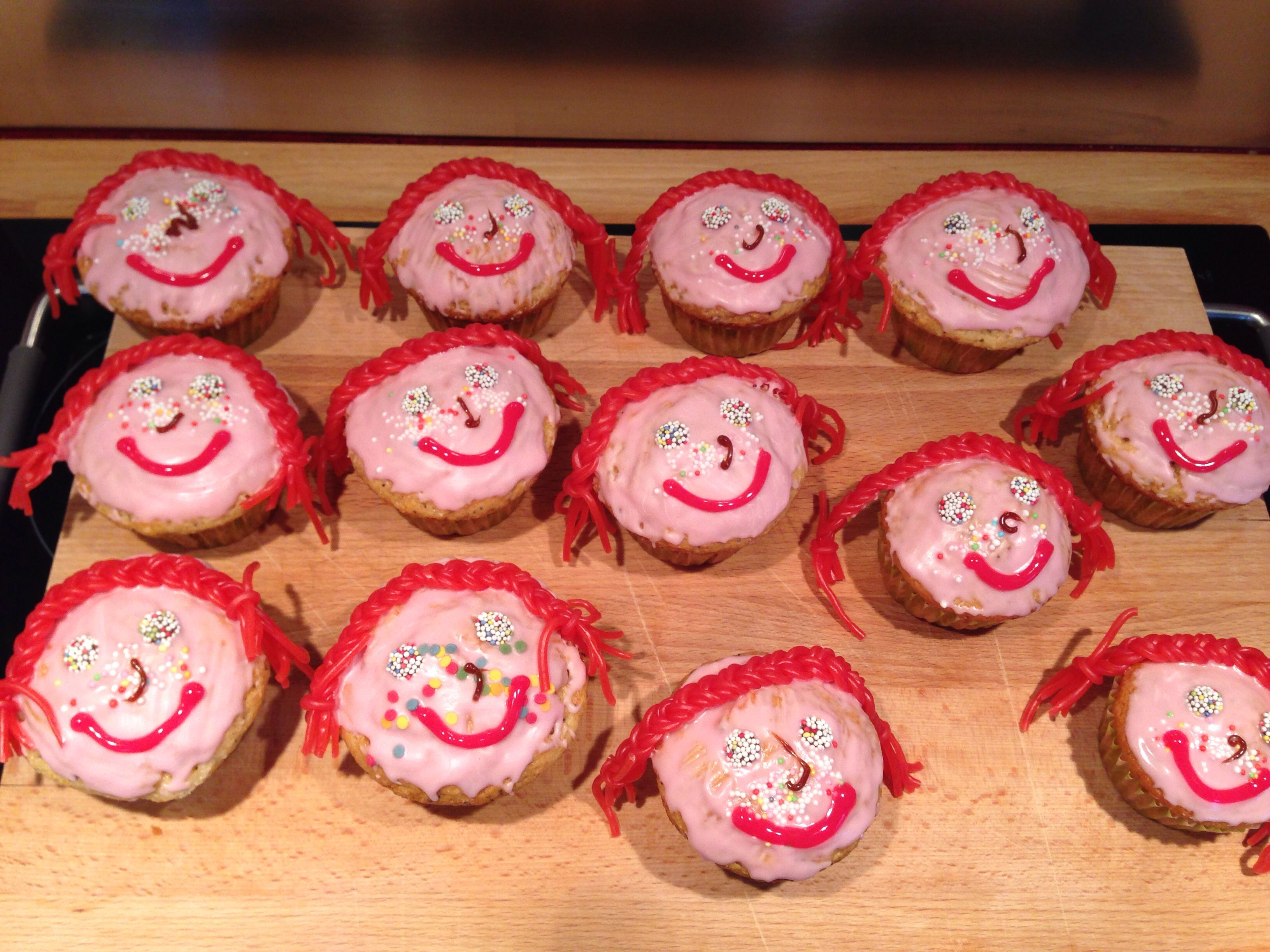 Pippi Langstrumpf Muffins Pipi Long Stocking Cup Cakes