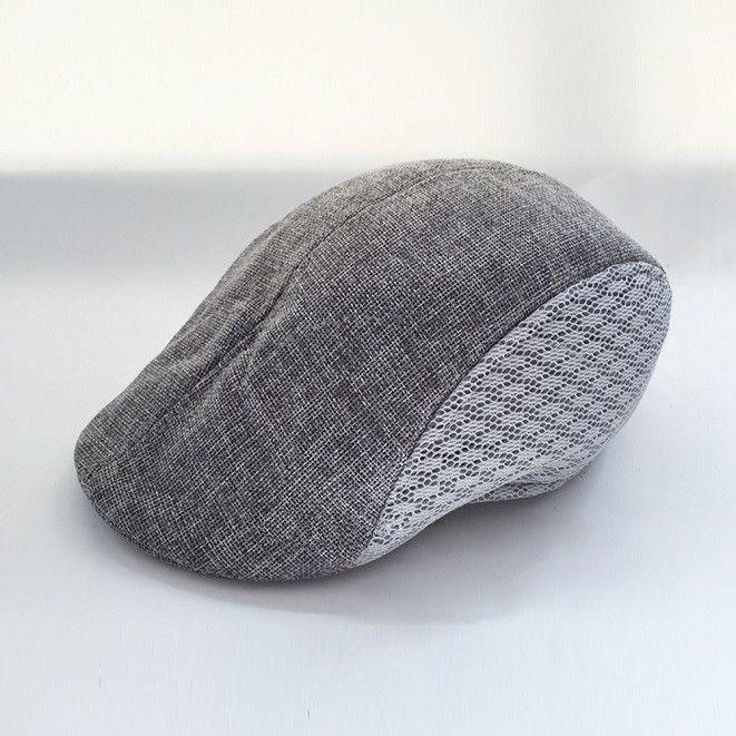 61dc4874323 6 Color New Unisex Beret Hats Women Men Flat Caps Casual Breathable Mesh  Polyester Cap L3