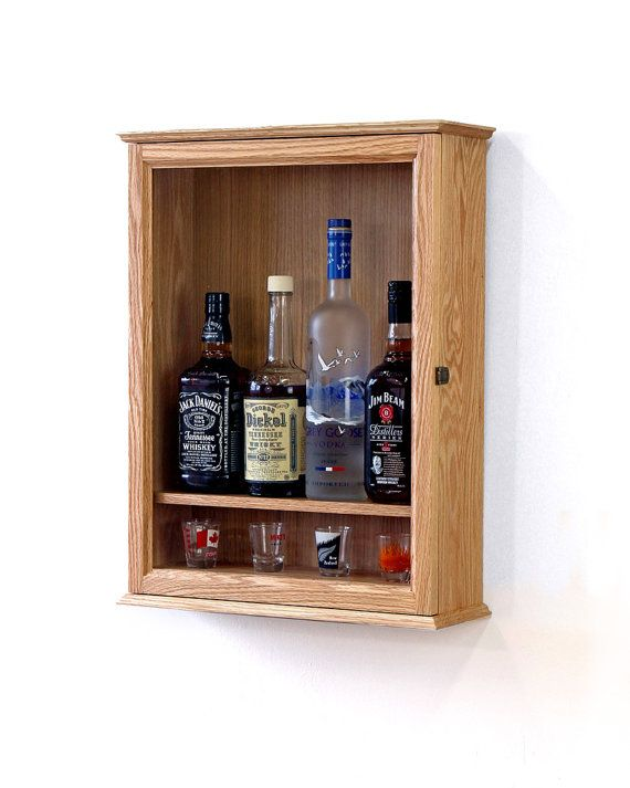 Wall Mounted Liquor Cabinet Paletes Ideias