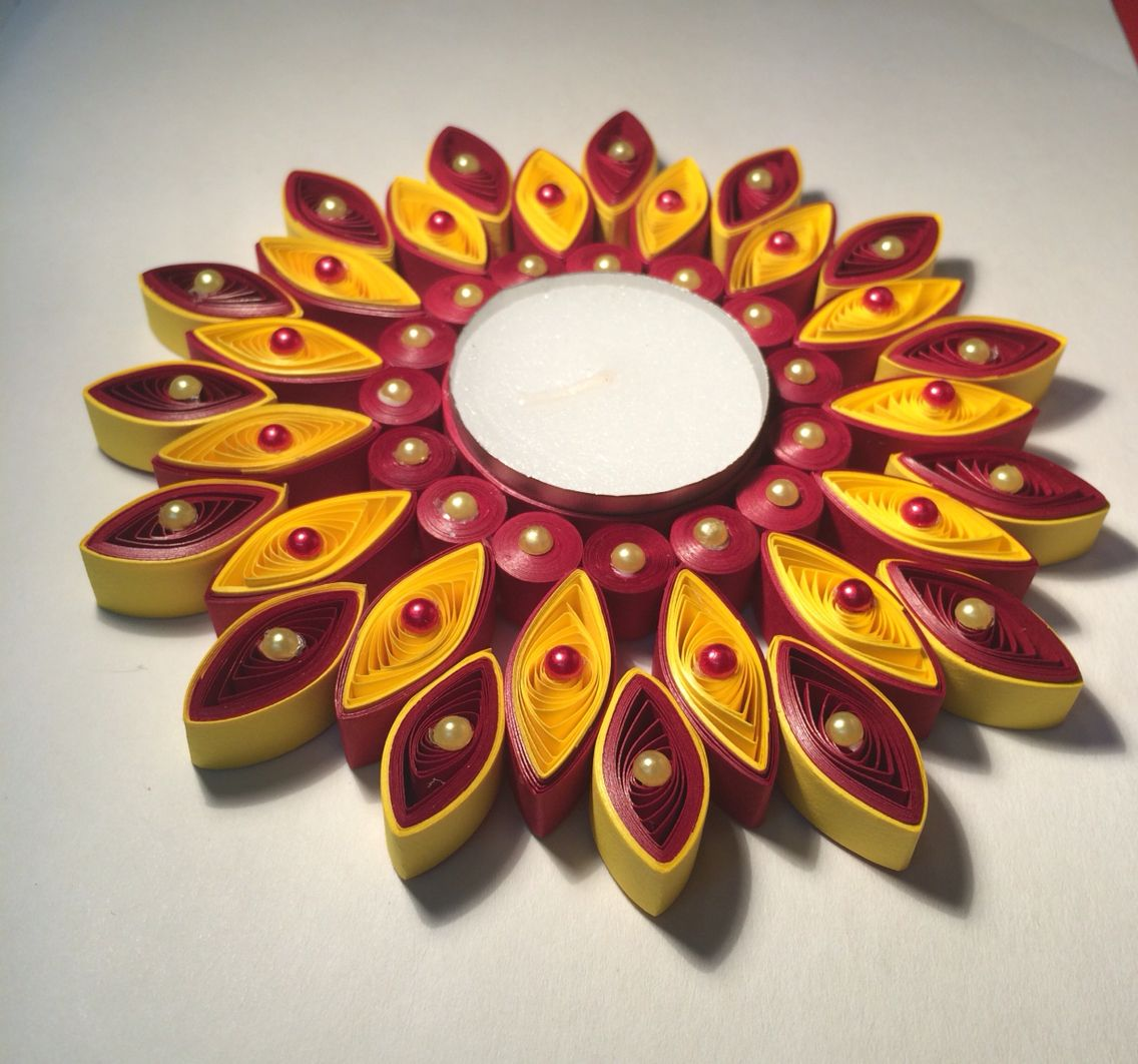Yellow and red | Lights/Lamps/Tea Lights-Quilled ... - photo#41
