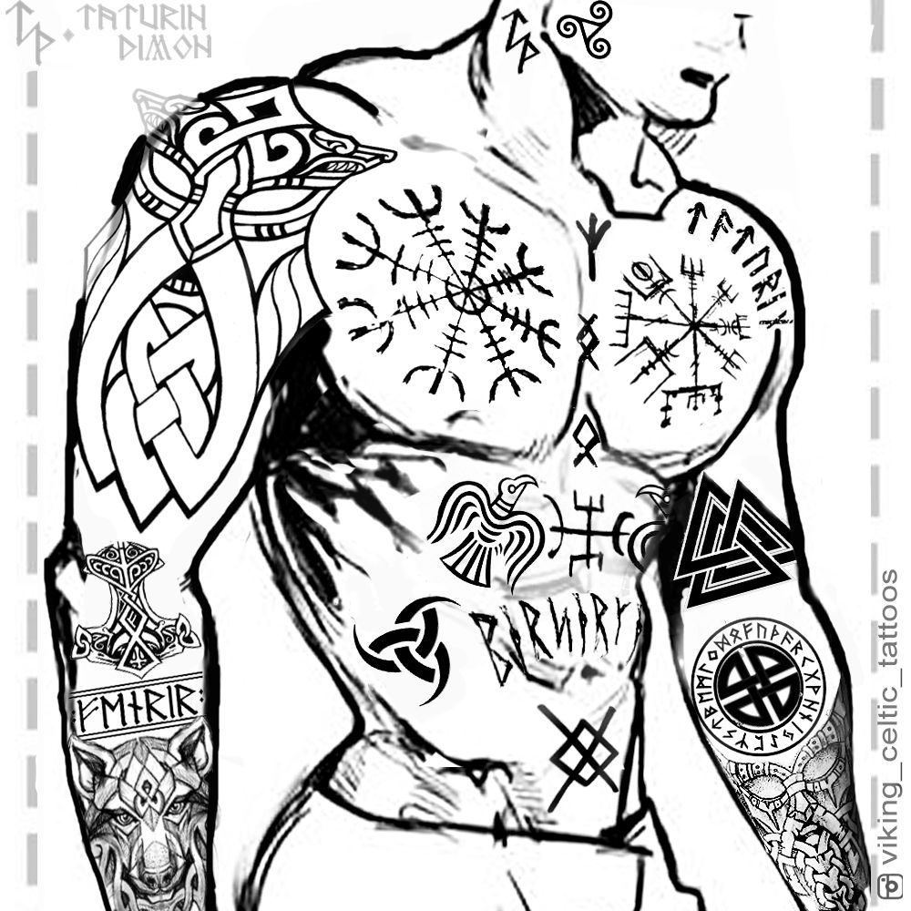 Nordische Tattoovorlagen