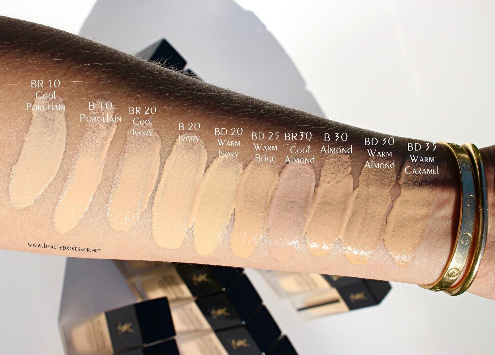 2 Major Things A Glimpse At The Beauty Professor X Lmdb Lip Color Process A First Look At The Ysl All Hours Foundation Foundation Swatches Ysl Foundation Ysl Makeup Foundation