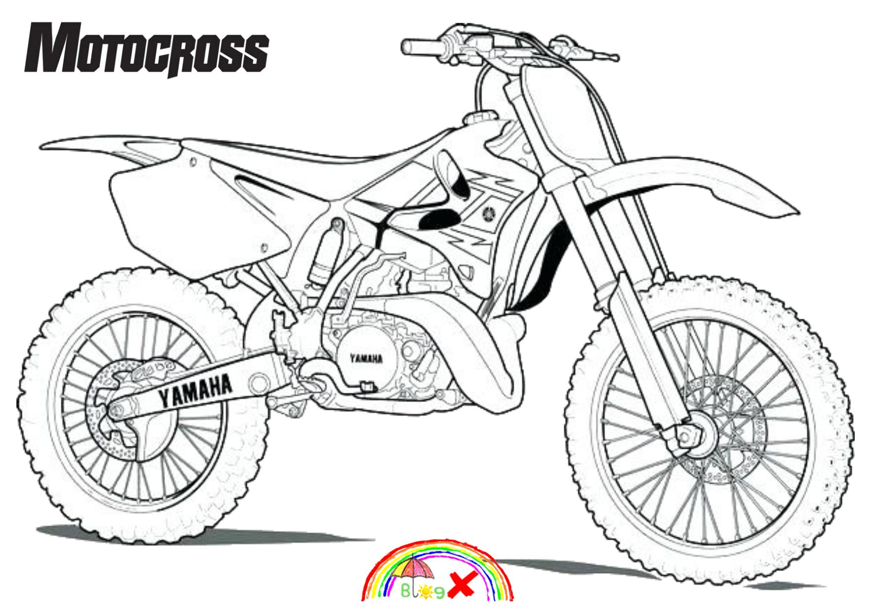 Pin By Sebastian Mathew On Coloring In 2020 Bike Drawing Dirt Bike Tattoo Motorbike Drawing
