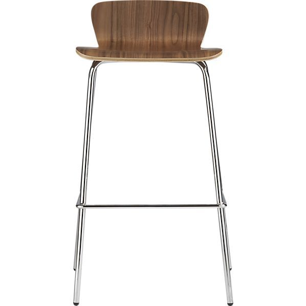 Felix 30 Walnut Barstool In Barstools Crate And Barrel Bar