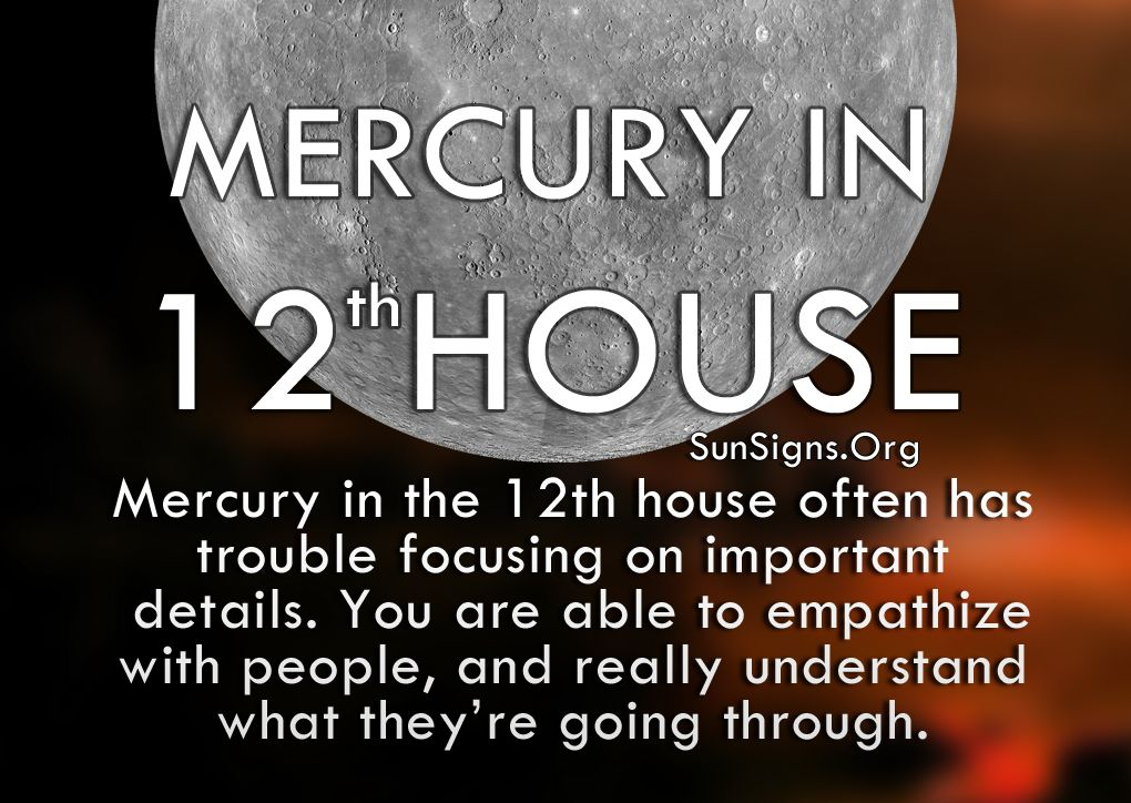 Mercury In 12th House Meaning Sun Signs Astrology Astrology Houses Mercury In Pisces