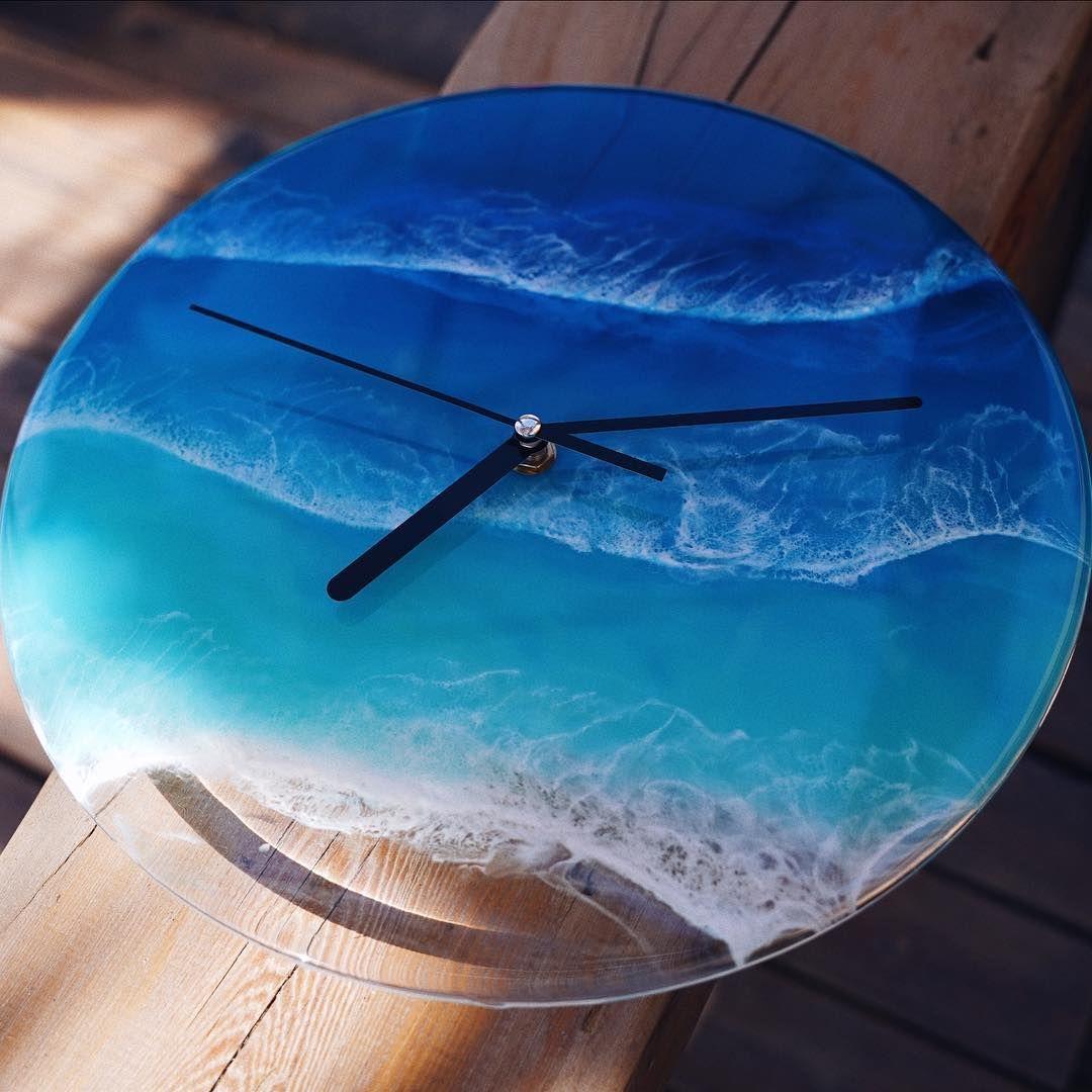 """stone on Instagram """"Time ocean resin loveresin handmadegifts ..."""