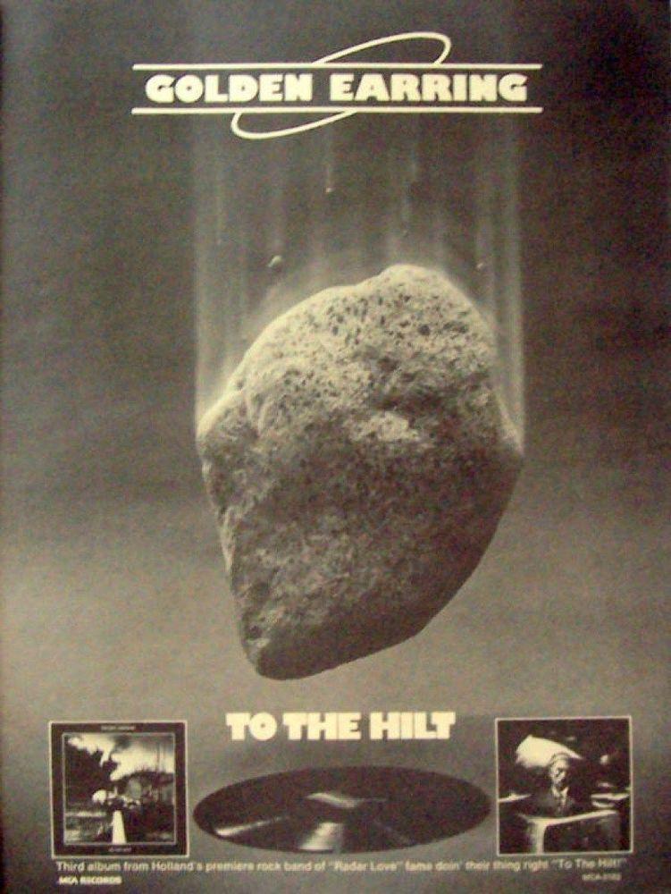 Golden Earrings Music Ad To The Hilt Full Page Black White Advert