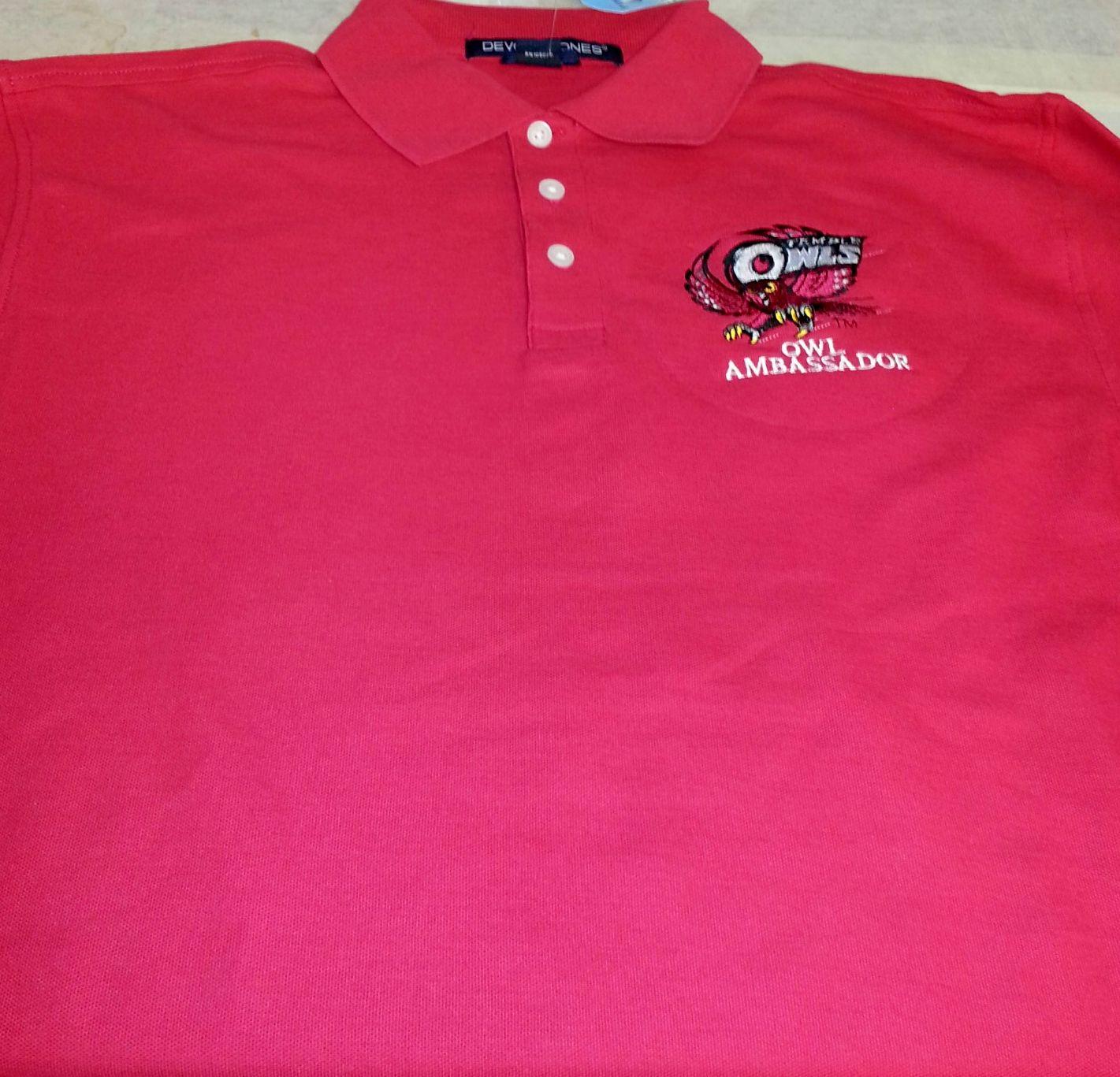 Owl Ambassador embroidered polo shirts!   Embroidered polo ...