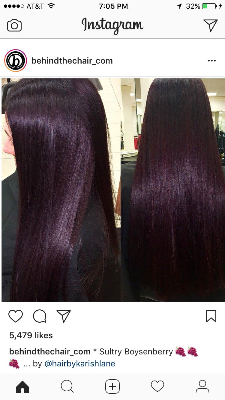 5vr 3vr Matrix So Color 10 Vol Hair Inspiration Color Plum Hair