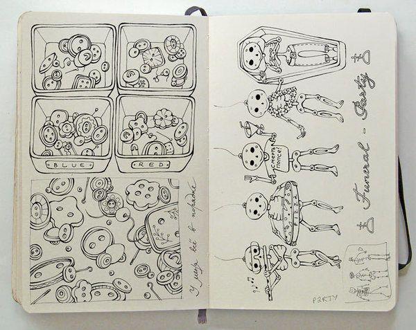 Beautiful Simple Line Art : Beautiful moleskine sketchbook sketches