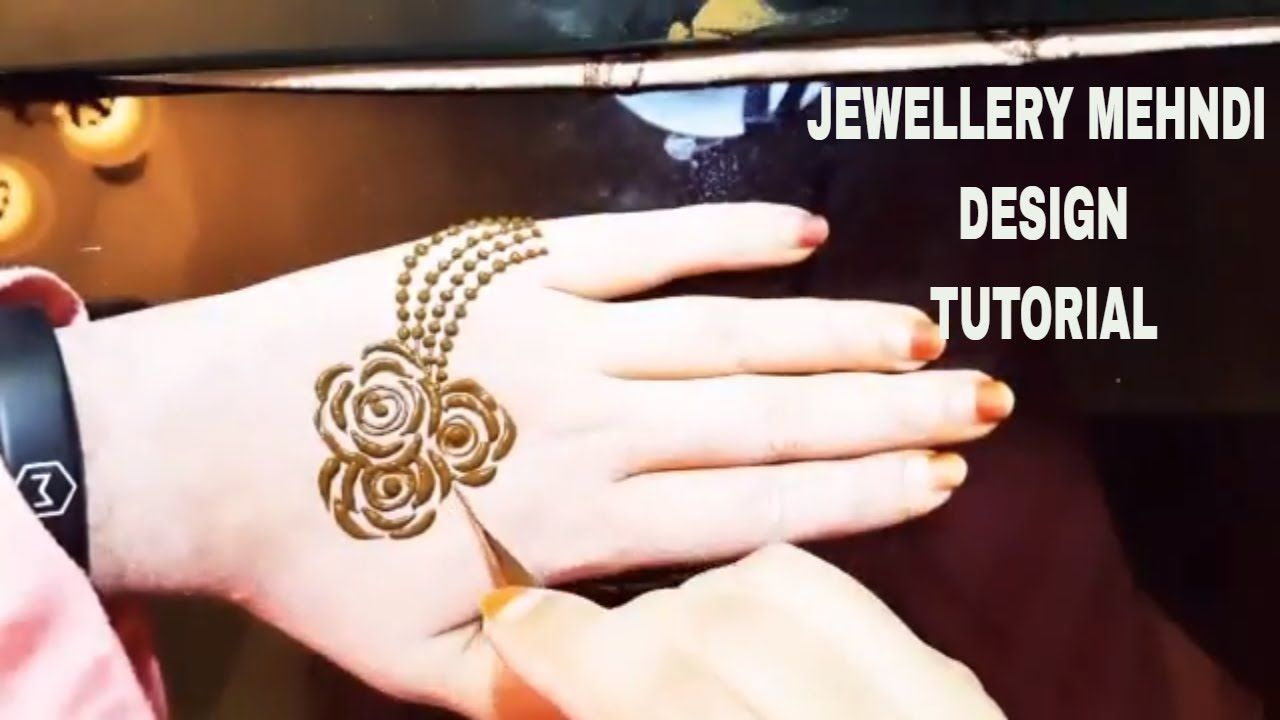 Henna Jewellery Mehndi : Simple & easy jewellery mehndi design