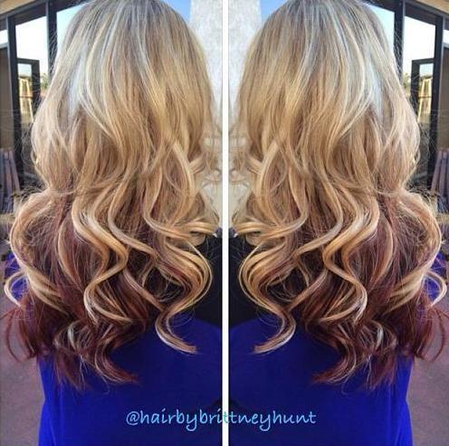 Blonde Red Underneath Hair Hair Styles Gorgeous Hair