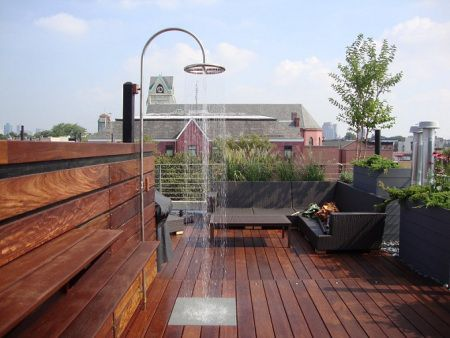 IPE DECKING shower