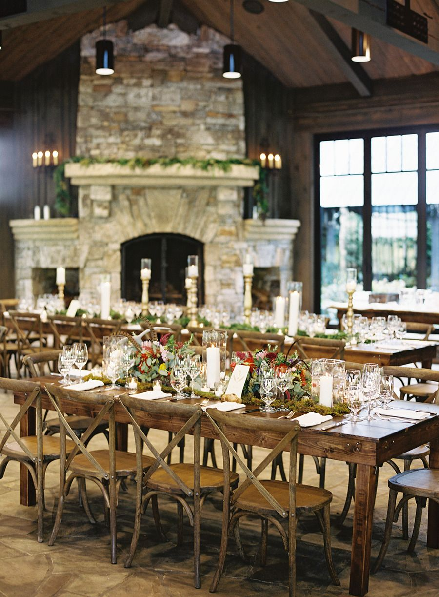 Captured By Virgil Bunao This Rustic Elegant Wedding At Old Edwards Inn Spa Features A Wing Sleeved Dress From Ivy Aster