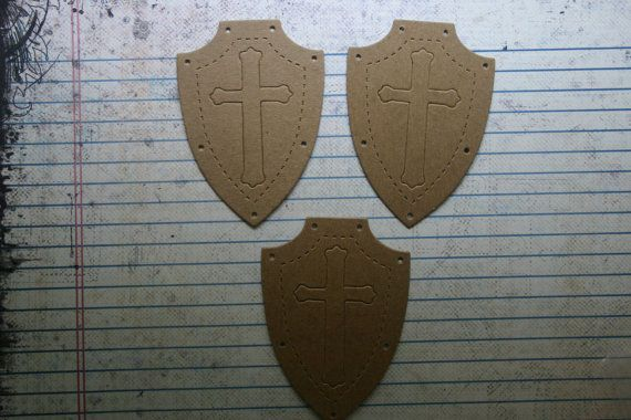 3 Bare  Unfinished chipboard die cuts Shield Diecuts by studioCee, $1.20