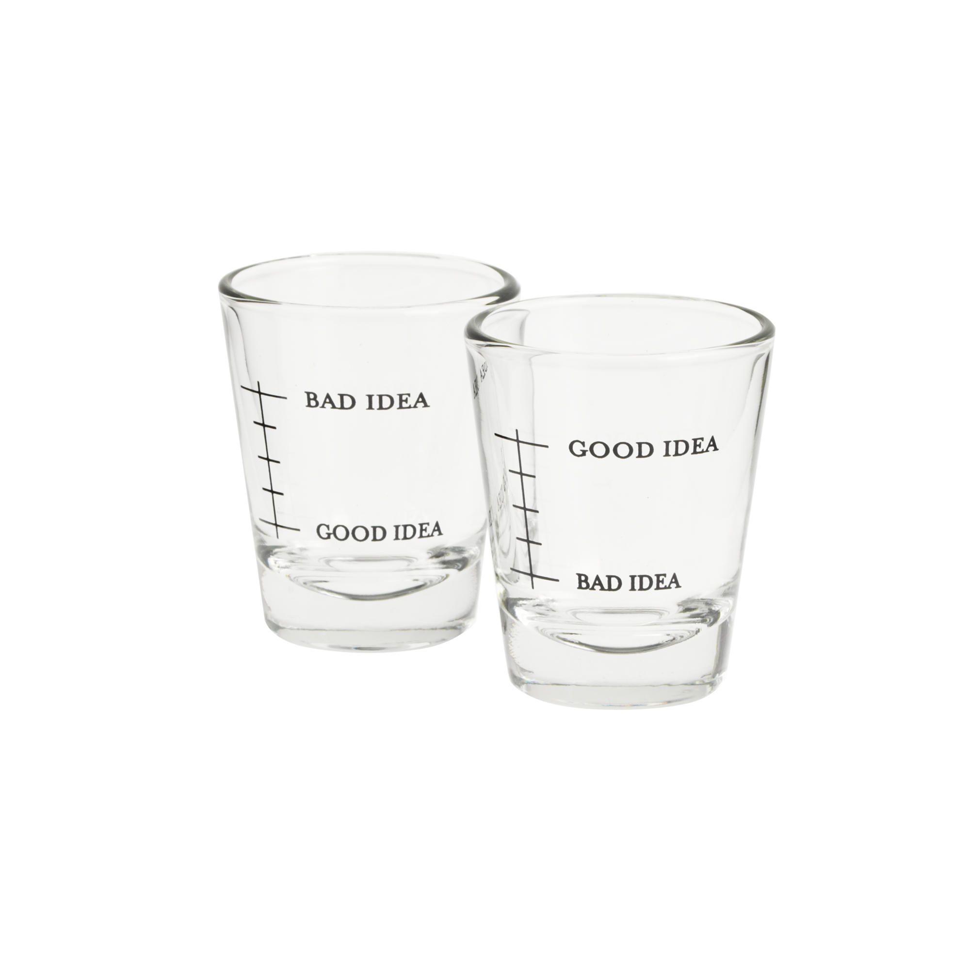 Jcrew Shot Glasses Set Editions Good Idea Bad Idea Shot Glasses Item B7930 28 Shot Glasses Funny Shot Glasses Fancy Shot Glasses