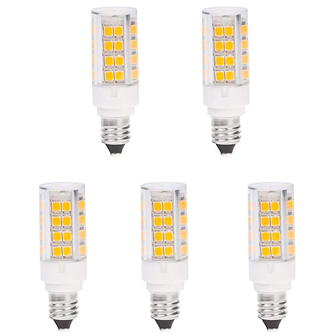 Hero Led E11 51s Dw Mini Candelabra E11 Base T4 Jd 120v Led Halogen Replacement Bulb 3 5w 35w Equivalent Daylight White 5000k 5 Pack Bulb Led Halogen Bulbs