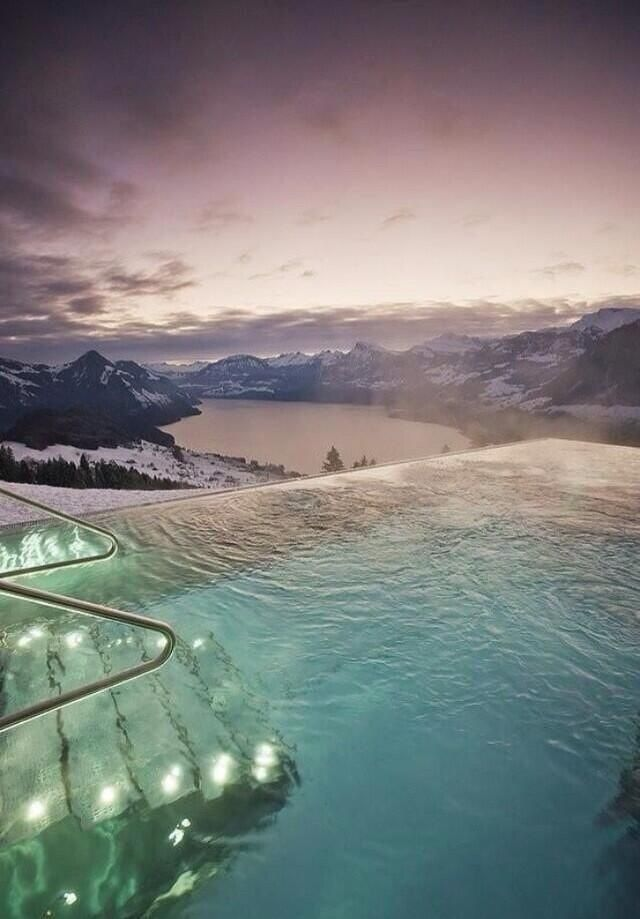 A heated pool with an amazing view in Colorado United States