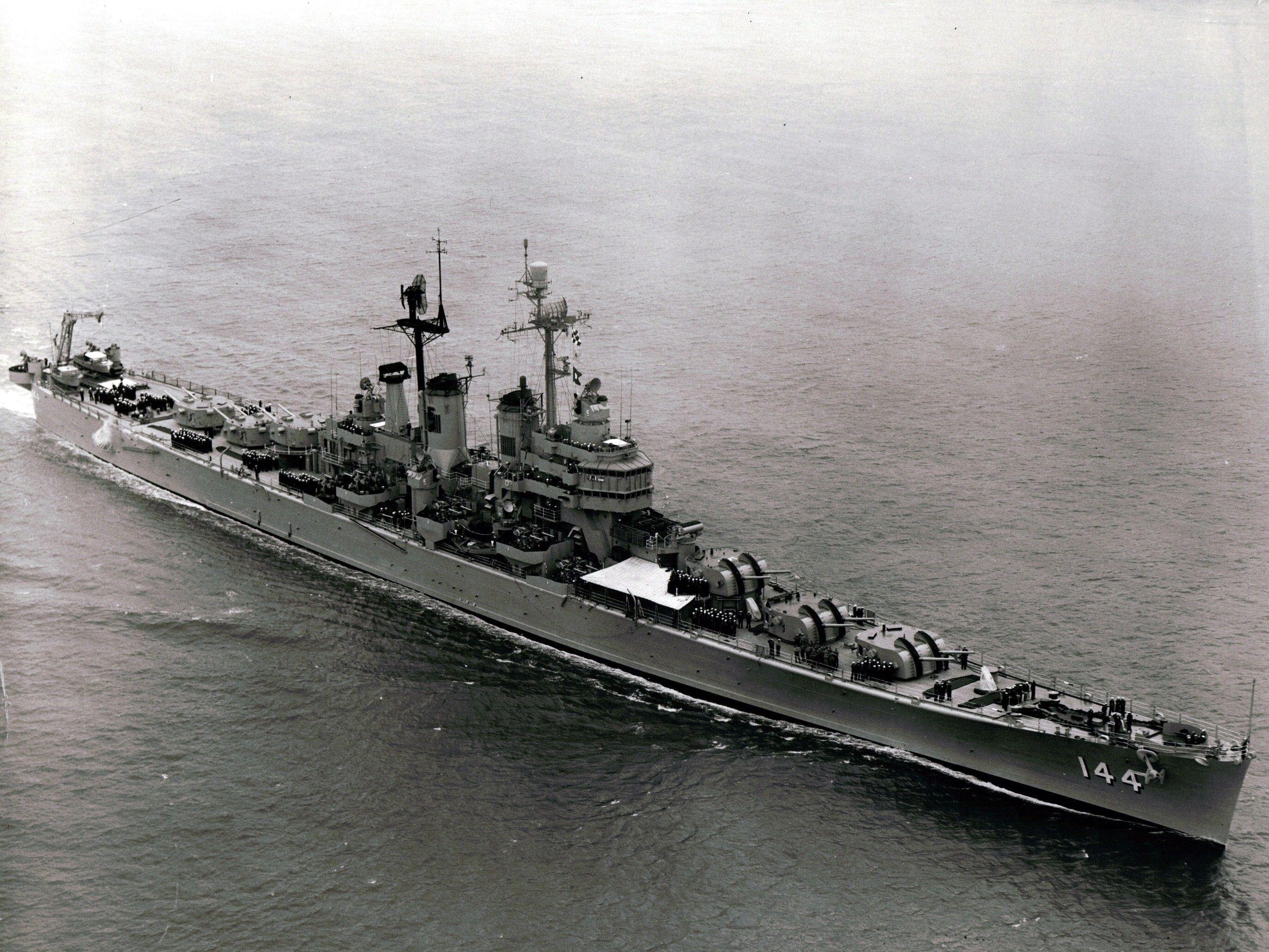 Uss Worcester Cl 144 Warship Battleship Naval History