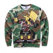 d72a357e9f Personajes de dibujos animados de Camuflaje camiseta de los hombres de hip  hop justin bieber propósito gira 3d Sudadera sudaderas con capucha de Manga  Larga ...