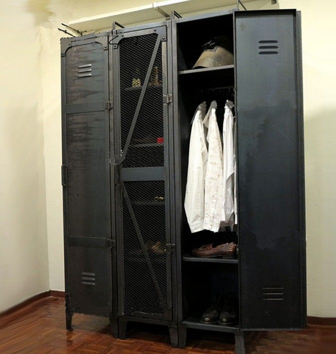 Locker Shelf On Sale At Reasonable Prices, Buy LOFT American Retro Wardrobe  Cabinet Large Wardrobe Closet Iron Shoe Locker Shelf Bookcase Shelf From  Mobile ...