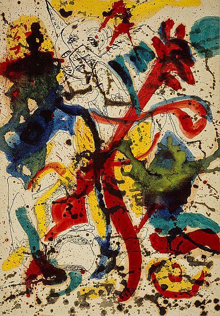 Jackson Pollock Sans Titre Peinture A L Huile Stylo Et Encre