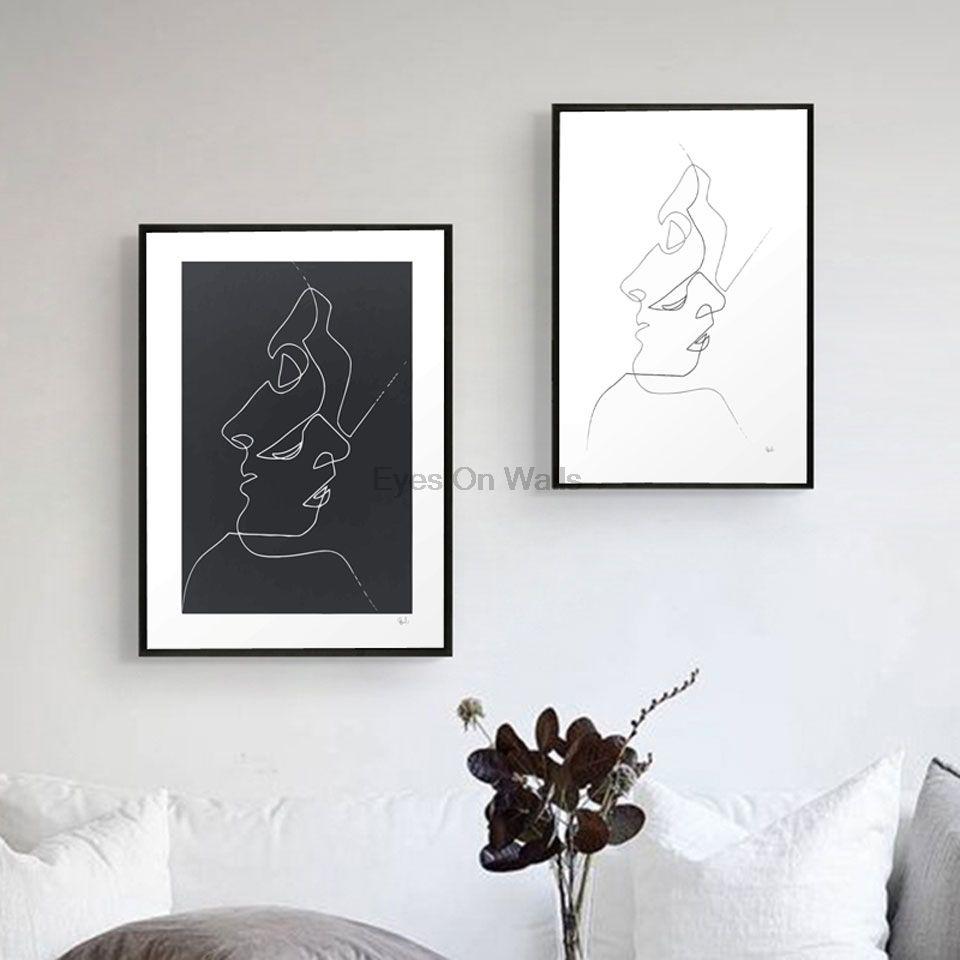 Pas Cher Minimaliste Picasso Affiche Abstraite Toile