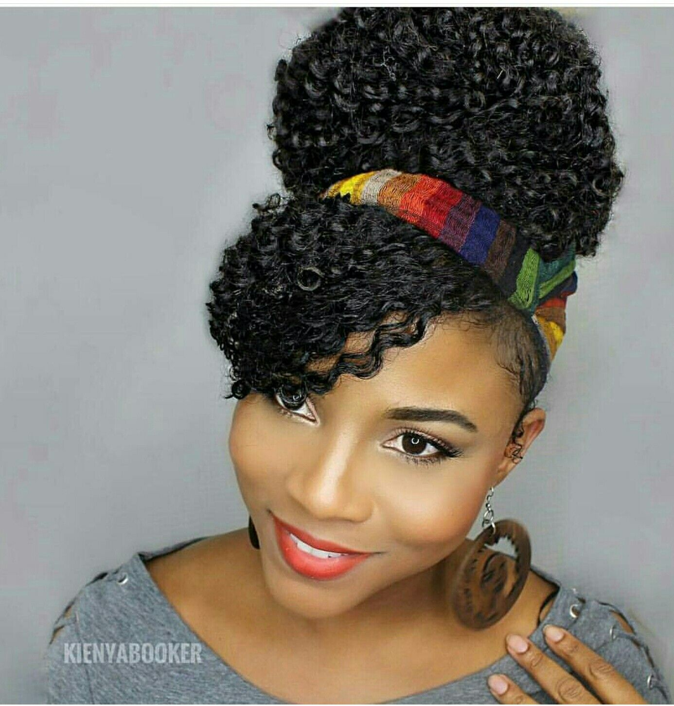 headband and curly bangs | my crown | curl hair with