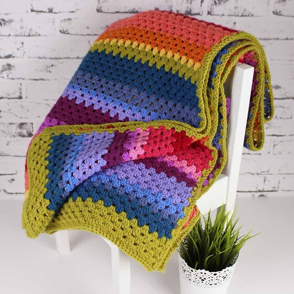 Stylecraft Special Dk Colour Pack - Crocheted Rainbow Blanket | soon ...