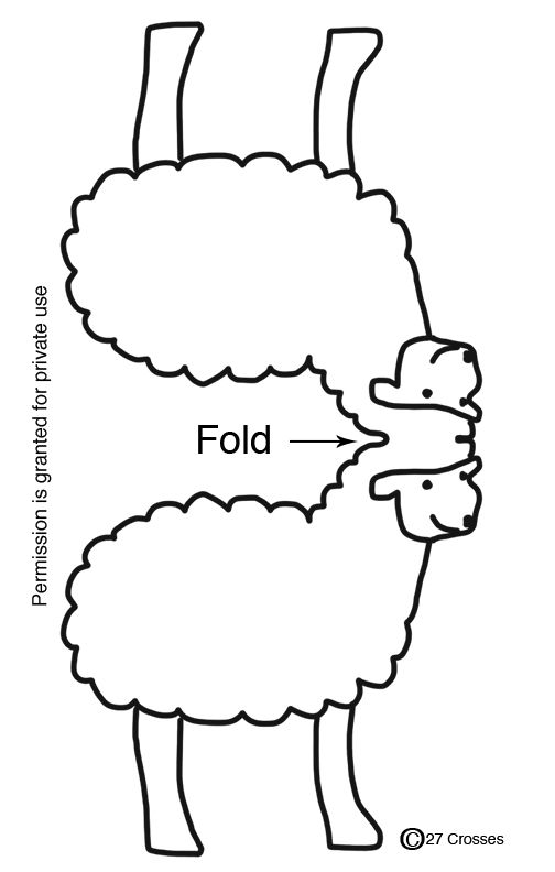Influential image throughout printable sheep pattern